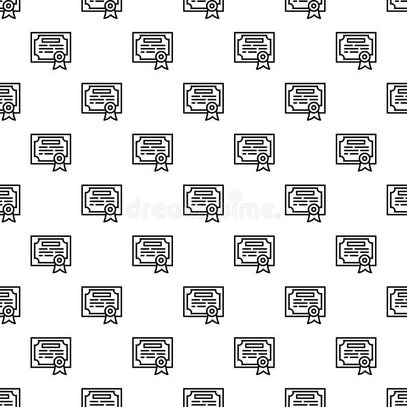 Finance diploma pattern seamless vector illustration
