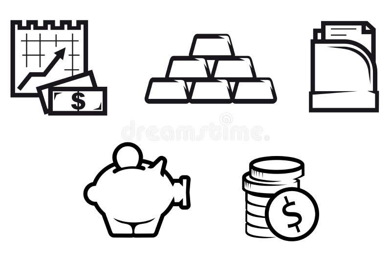 Download Finance And Economics Symbols Stock Vector - Illustration: 15203693