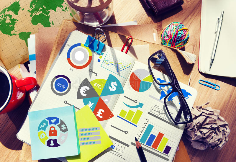 Finance Financial Business Economy Exchange Accounting Concept stock photography
