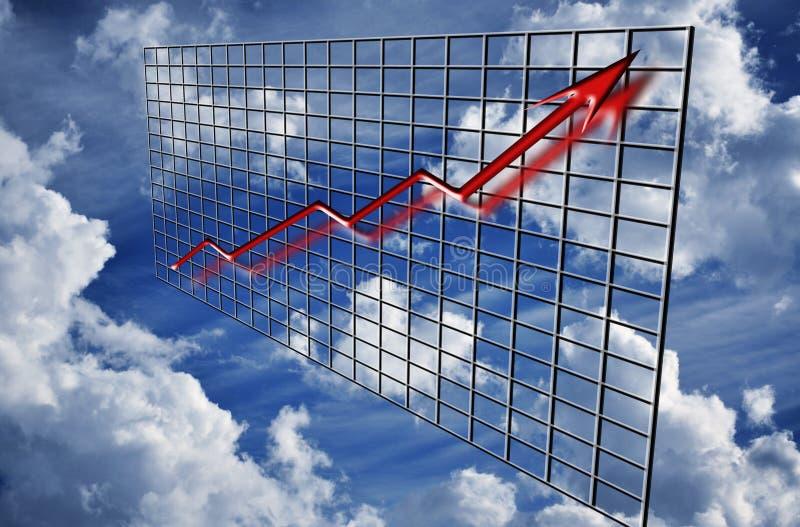 Finance graph arrow up royalty free illustration