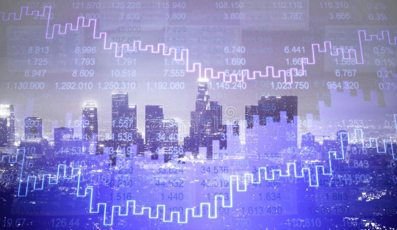 Finance graphic stock photography