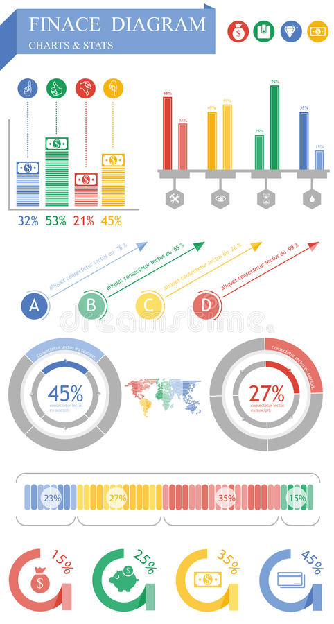 Download Finance graphic stock vector. Illustration of design - 31776383