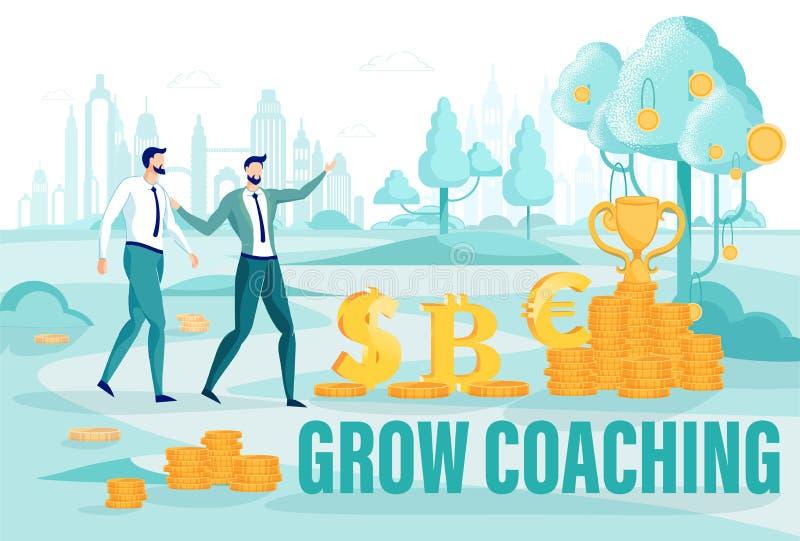 Finance Grow Coaching on Entrepreneurship Courses lizenzfreie abbildung