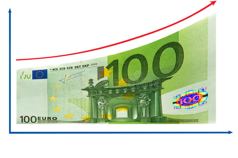Download Finance Growth By 100 Euro Diagram. Isolated. Stock Photo - Image: 20351856