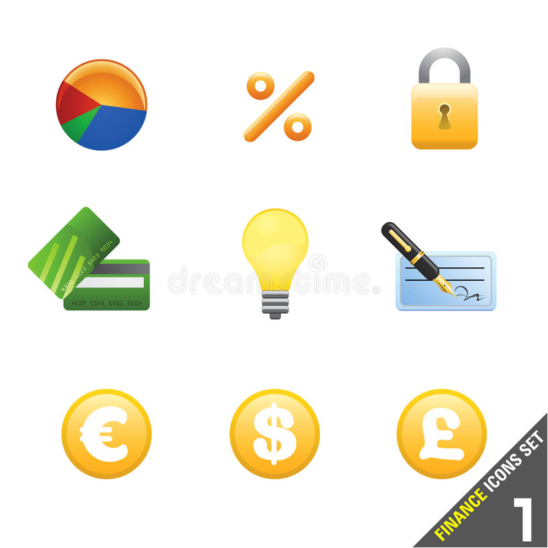 Download Finance Icon Set 1 Stock Photos - Image: 5047273