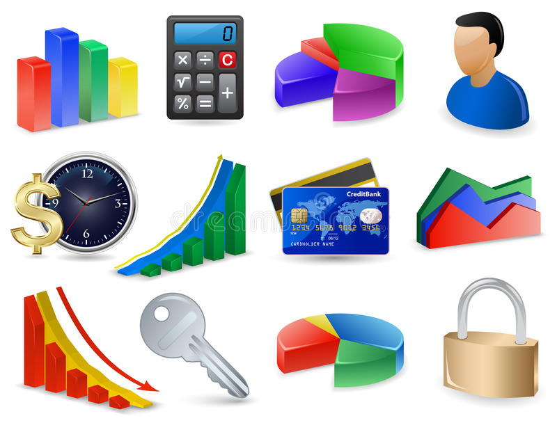 Download Finance Icon Set stock vector. Illustration of accountant - 11732635