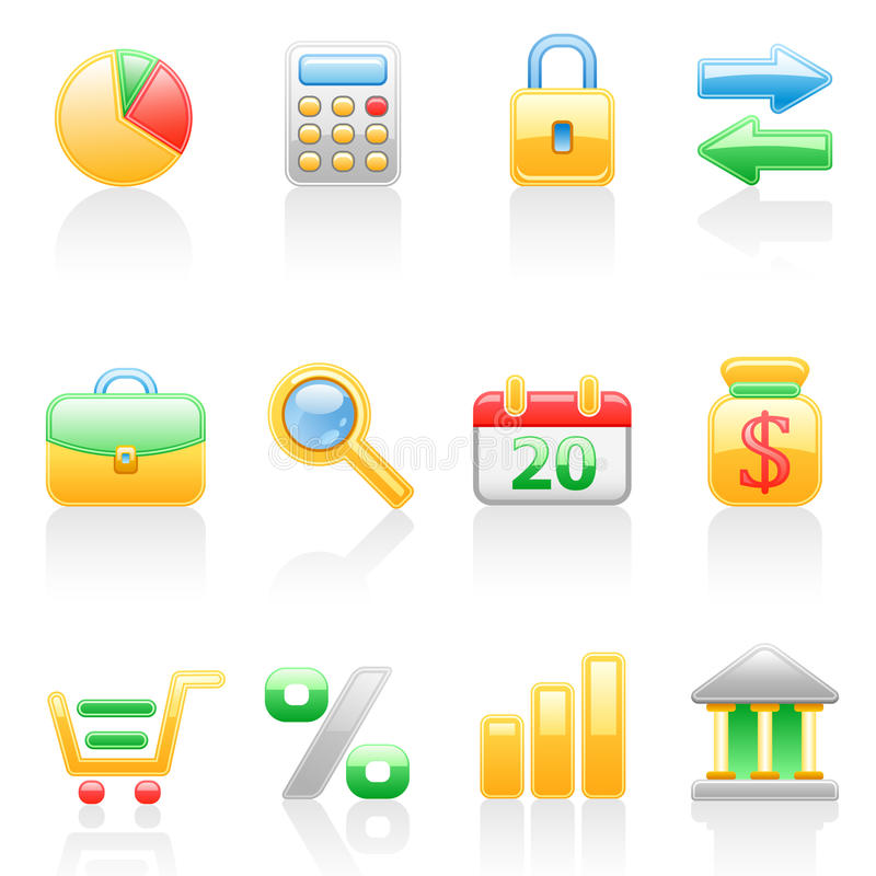Download Finance Icon Set. Stock Photography - Image: 16494082