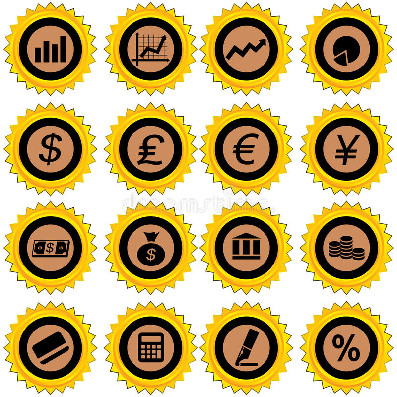 Download Finance icon set stock vector. Illustration of credit - 19620900