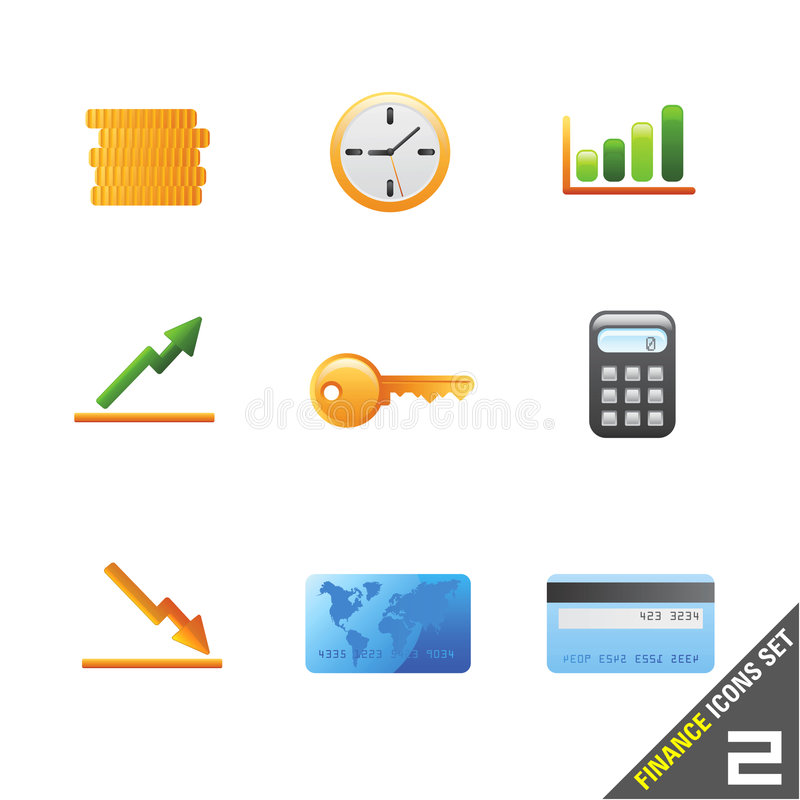 Download Finance icon set 2 stock vector. Illustration of website - 5047331