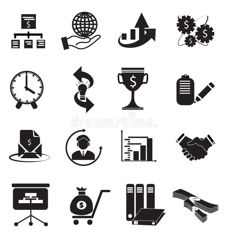 Finance Icon Set royalty free illustration