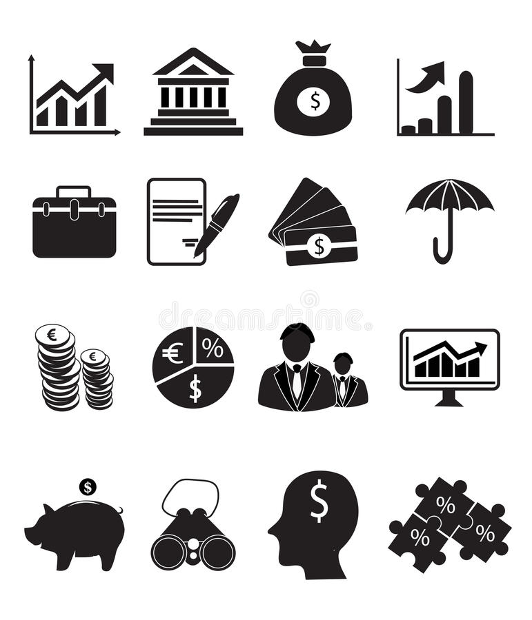 Finance Icon Set vector illustration