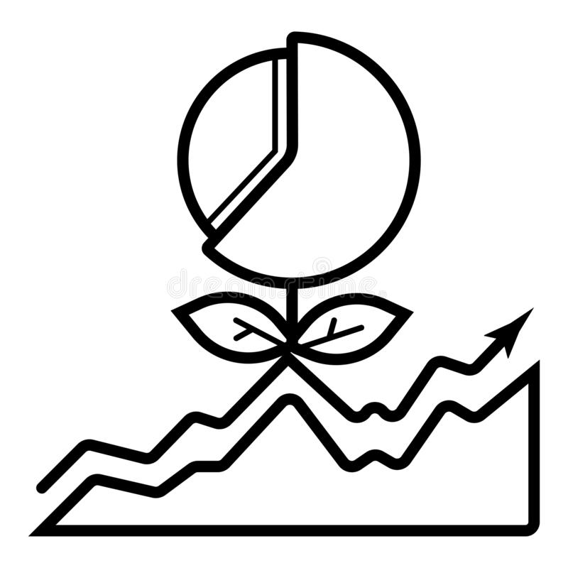 Finance icon vector stock illustration