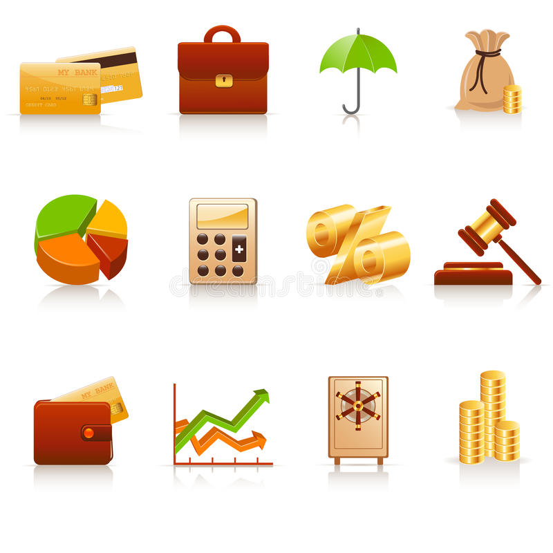 Download Finance icons stock vector. Illustration of money, exchange - 12693233