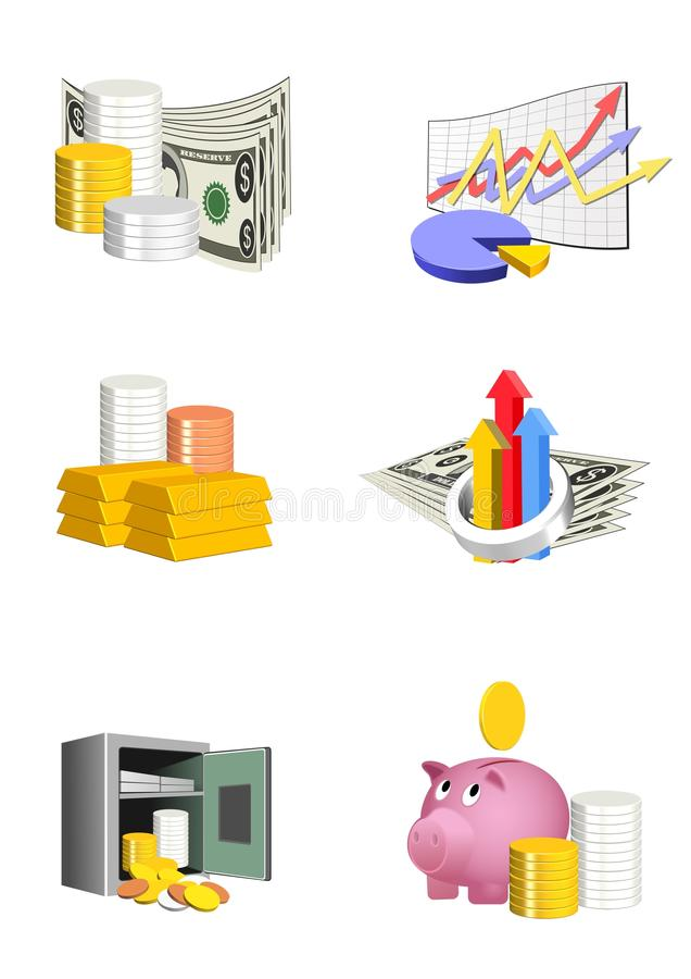 Download Finance icons stock illustration. Image of blue, concept - 15238600