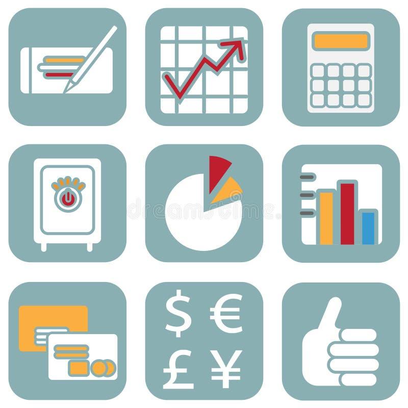 Finance Icons Stock Photos