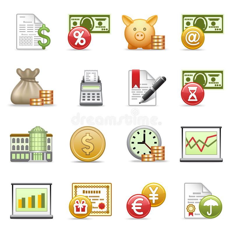 Download Finance icons. stock vector. Image of mail, credit, currency - 19721145