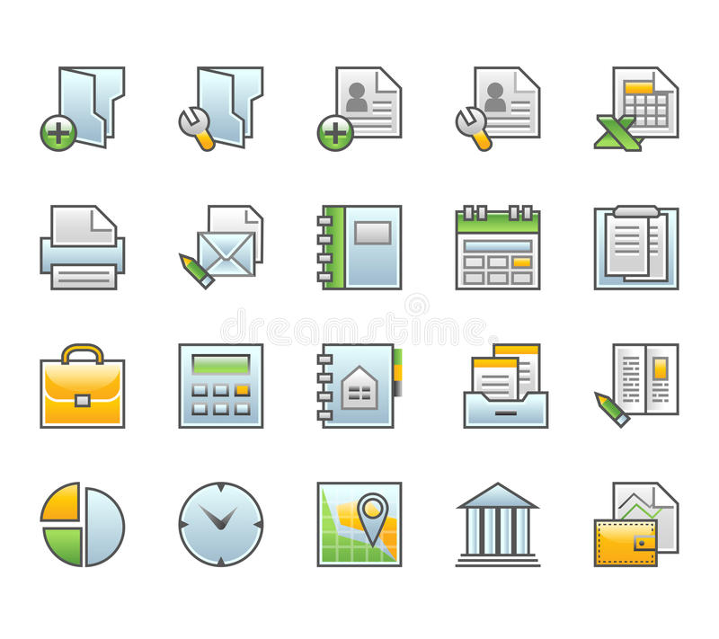 Finance Icons Stock Images
