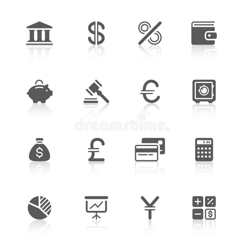 Download Finance icons stock vector. Illustration of bank, banking - 24182472