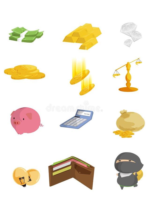 Download Finance icons stock illustration. Image of cash, interest - 25677178