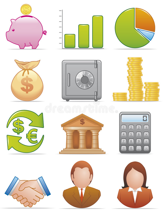 Download Finance icons stock vector. Image of money, illustration - 7359037