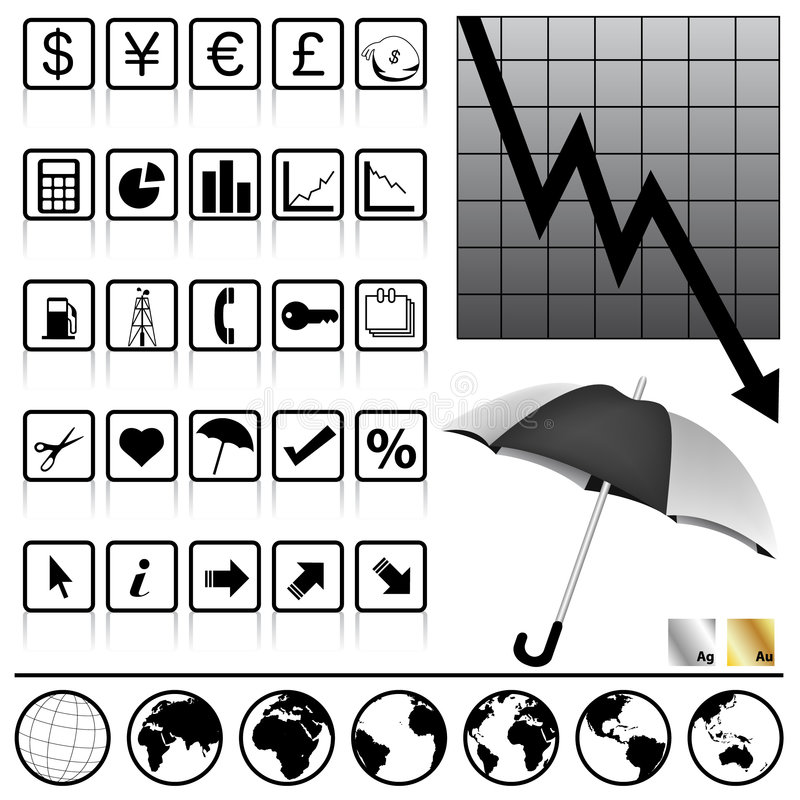 Download Finance icons stock vector. Illustration of sign, illustration - 7451091