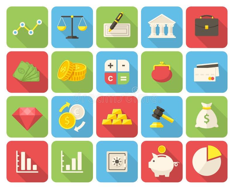 Finance icons stock illustration