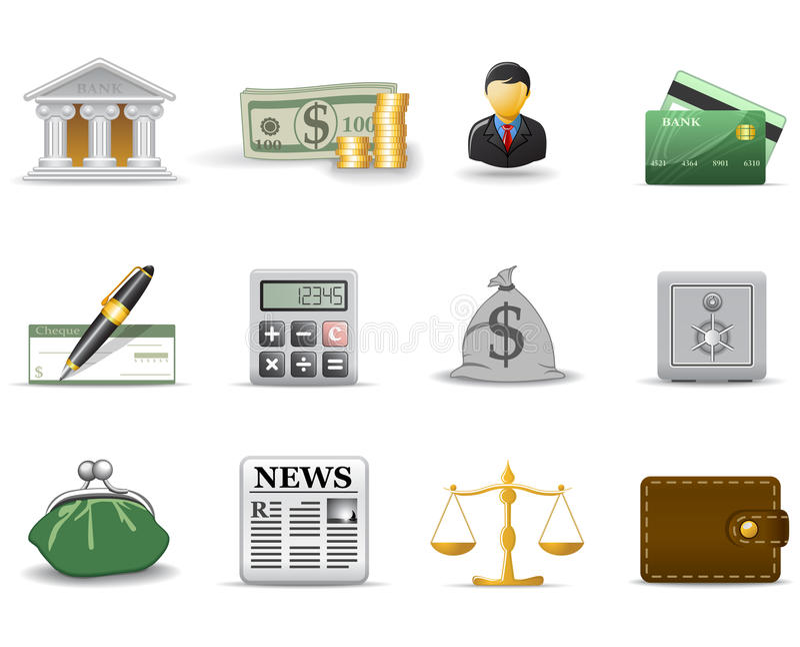 Finance icons. Part 1 vector illustration