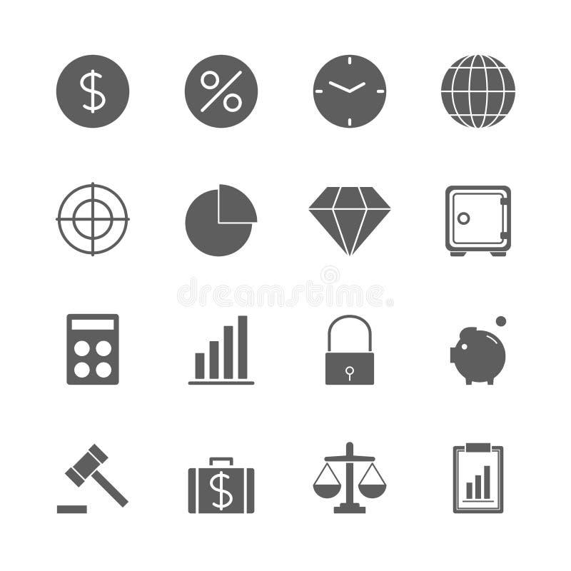 Finance icons set. On white background royalty free illustration