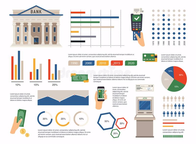 Finance infographic. Can be used for info graphics, graphic or website layout vector, numbered banners, diagram. Vector. Illustration royalty free illustration