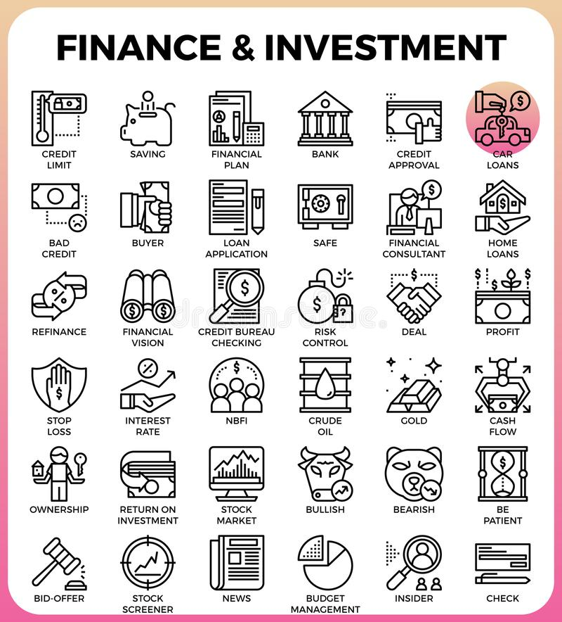 Finance & Investment concept line icon. Style for ui, ux, website, web, app graphic design vector illustration