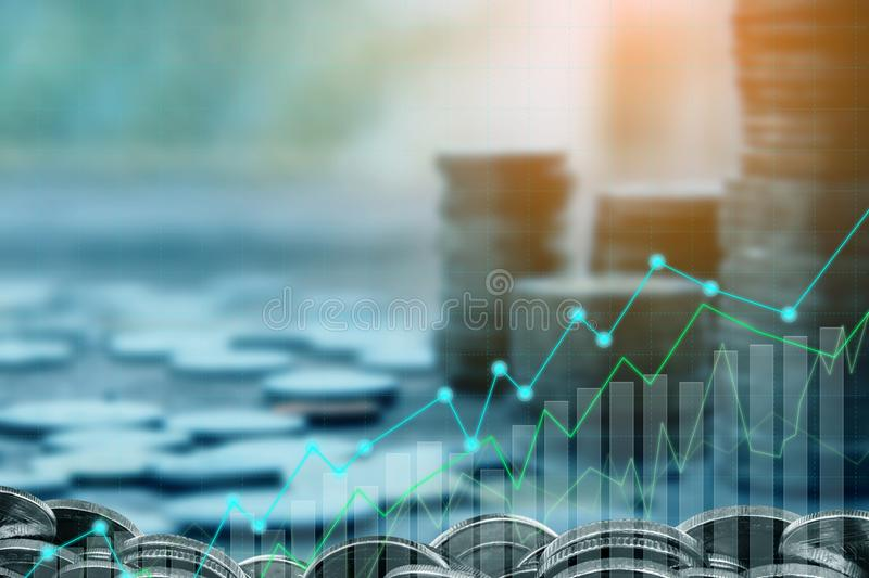 Finance and Investment concept. Money management and Financial chart royalty free stock images
