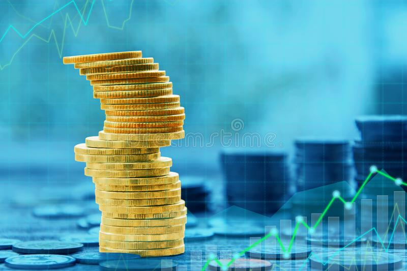 Finance and Investment concept. Money management and Financial chart stock images