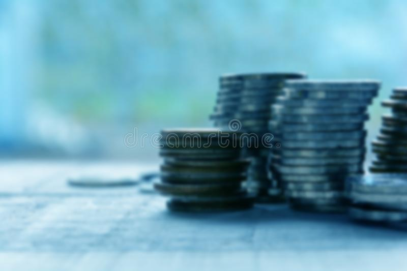 Finance and Investment concept. Money management and Financial chart.blur focus royalty free stock images