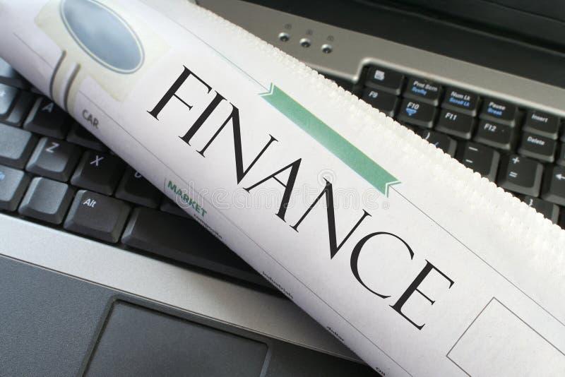 Finance laptop stock photography