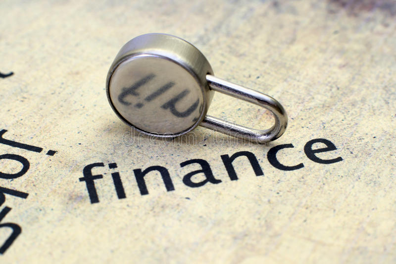 Finance and lock concept. Close up of Finance and lock concept royalty free stock photos