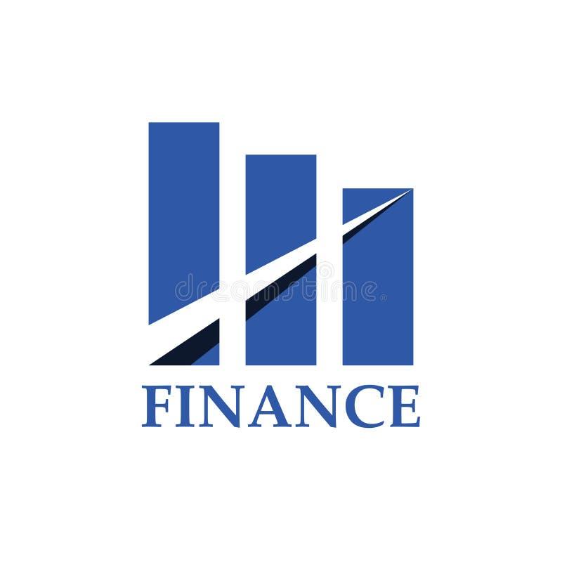 Finance logo design template. Vector illustration royalty free illustration