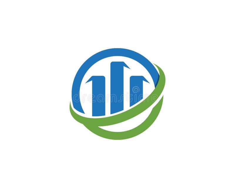 finance logo and symbols vector concept illustration royalty free illustration