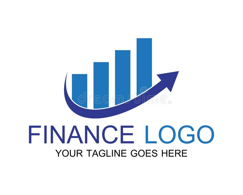 finance logo and symbols vector concept stock illustration
