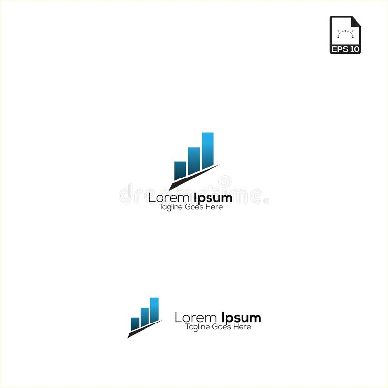 finance logo and symbols vector simple concept illustration royalty free illustration