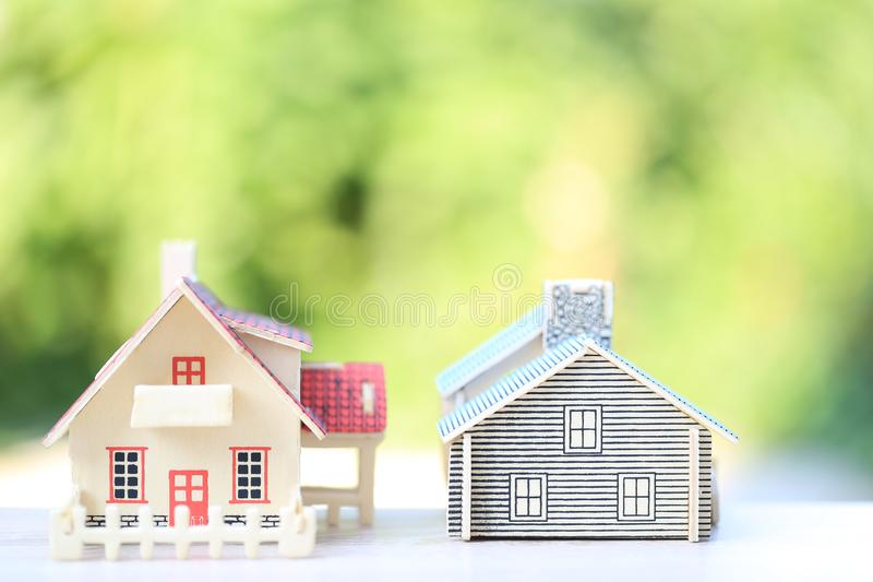 Finance, Model house on natural green background, Business investment and real estate.  stock images