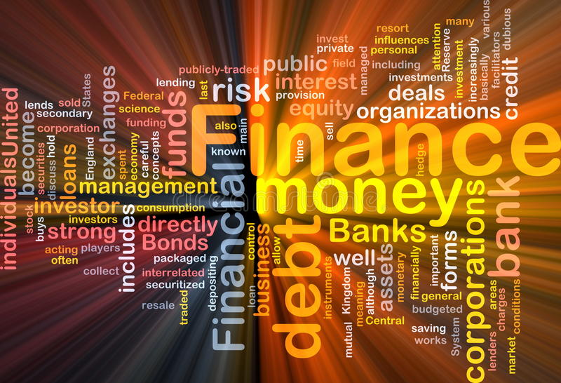 Finance money concept diagram glowing stock illustration