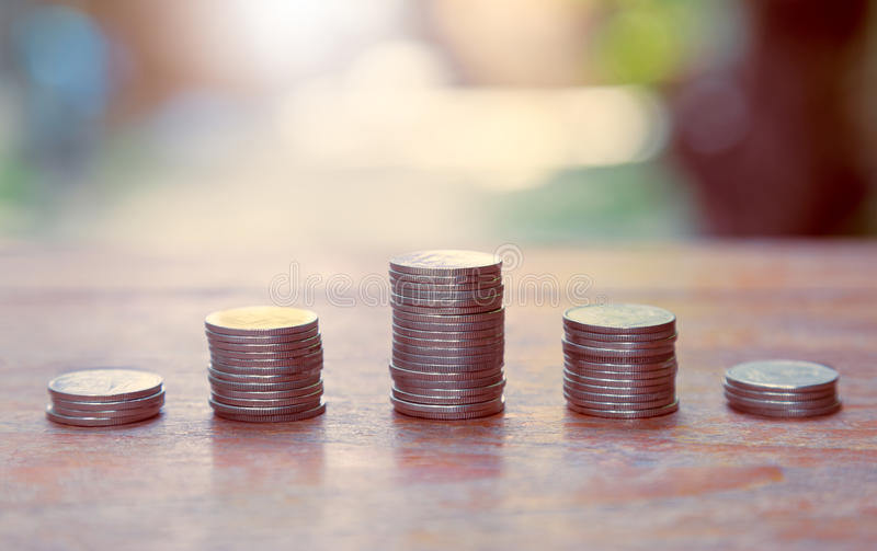Download Finance And Money Concept, Money Coin Stack Growing Graph. Stock Photo - Image of financial, save: 74413806