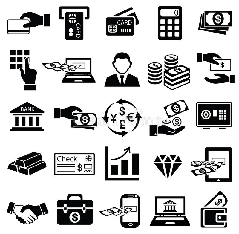 Free Finance Money Icon Set, Royalty Free Stock Image - 42154116