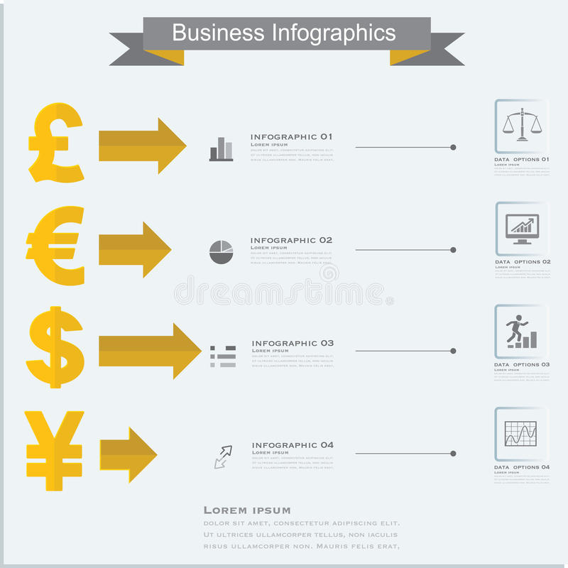 Finance Money Infographics Currency Symbols Dollar Euro Pou