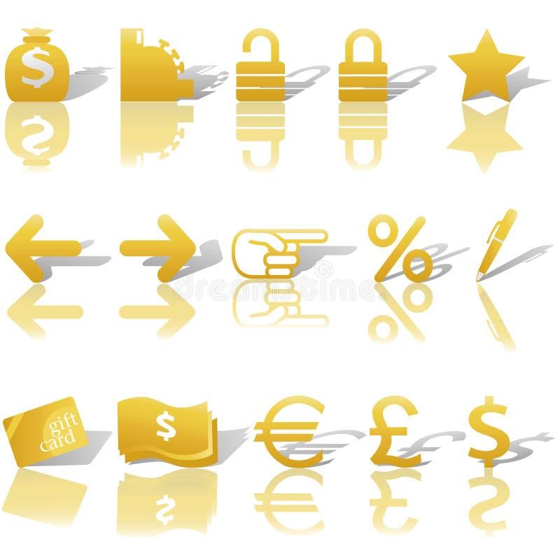 Download Finance Money Website Navigation Icons Set Stock Vector - Image: 6679955