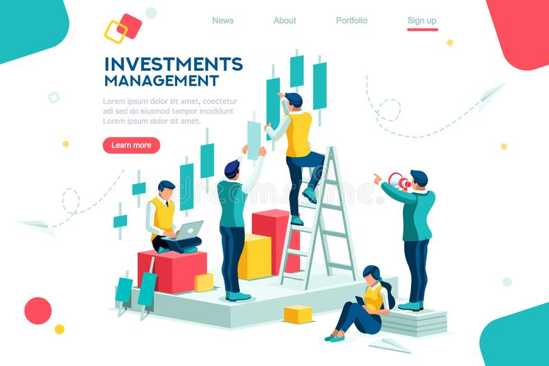 Finance Progress Alternative Building Concept stock illustration