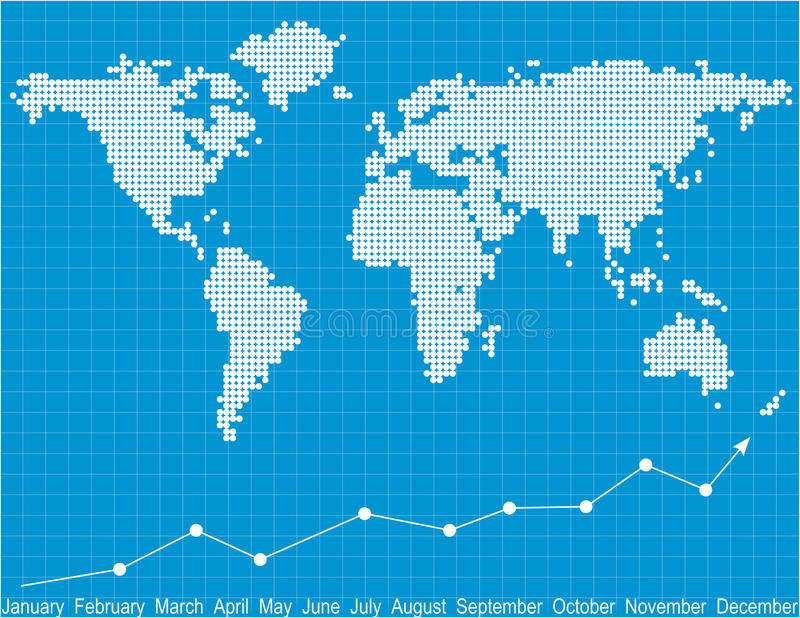 Finance report. The world business benefit of graph royalty free illustration