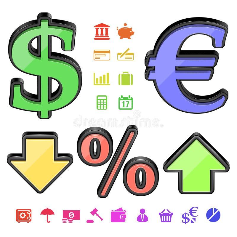 Download Finance symbols stock vector. Image of conversion, european - 24594018