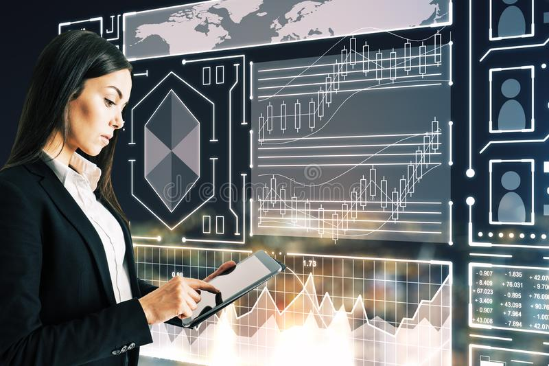 Finance and technology concept stock images
