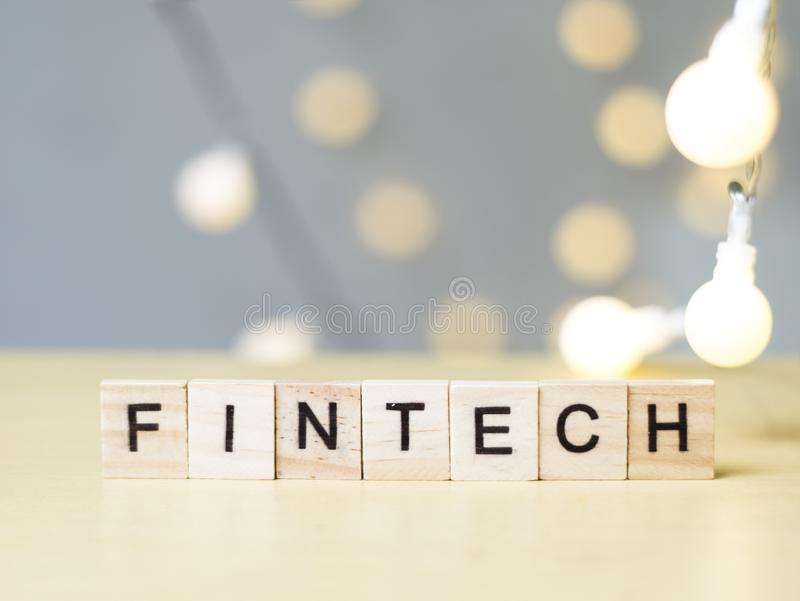 Finance Technology Fintech, Business Words Quotes Concept stock images